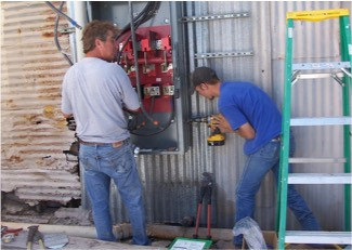 Safe electrical repairs, including changing panels